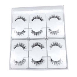 human lashes UK - Free Logo Printing Human Hair Lashes Transparent Band Natural Eyelashes Handmade Comfortable cilios Reusable Wispy false Eyelashes Extension
