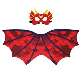 $enCountryForm.capitalKeyWord Australia - Child Cosplay Cloak Mask Dinosaur Wing Mantle Boy And Girl Pterosaur Printing Cape Chiffon Comfort Colorful