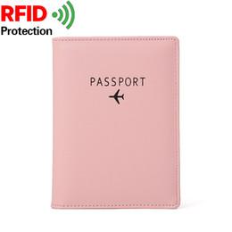 $enCountryForm.capitalKeyWord Australia - New Design Women Passport Holder Cover Short Wallet RFID Blocking Leather Card Case Travel Document Organizer