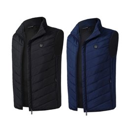 Thermal cloThing black online shopping - Outdoor Sports Fishing Men Women Outdoor USB Infrared Heating Vest Jacket Winter Flexible Electric Thermal Waistcoat Clothing