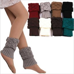 crocheted ankle cuffs Australia - Knit Leg Warmers Women Crochet Boot Cuffs Fashion Trim Toppers Winter Stretch Boot Socks Wedding Bride Chirstmas Cover Socks Decor C3732