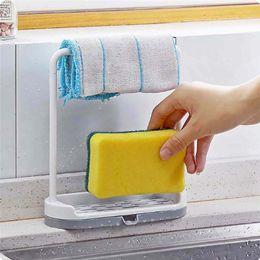 $enCountryForm.capitalKeyWord Australia - 1Pcs Hot Sale Pratical Kitchen Storage Rack Holder Sink Drainer Bathroom Shelf Soap Sponge Organizer Free