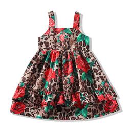 $enCountryForm.capitalKeyWord UK - New leopard print girls dresses kids summer clothes girls Princess Dresses rose kids dresses kids designer clothes girls dress A5489