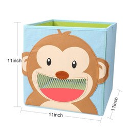 $enCountryForm.capitalKeyWord Australia - New Foldable Non-Woven Kids' Toy Storage Bin Box - 3D Cartoon Animal Children Toys Chest and Closet Organizer book Clothes