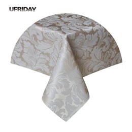 $enCountryForm.capitalKeyWord NZ - UFRIDAY Rectangle Tablecloth Leaves Jacquard Waterproof Polyester Table Cover Cloth for Living Room Hotel Restaurant Table Cloth