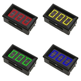 $enCountryForm.capitalKeyWord Australia - 0.56inch Protable Digital Voltmeter DC0-100V Panel Amp Volt Voltage Meter Tester With 3 Wires Red Yellow Blue Green LED Display