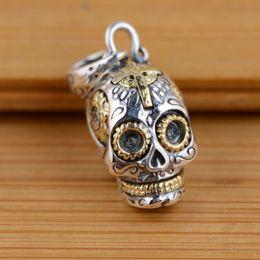 $enCountryForm.capitalKeyWord Australia - Fashion Jewelry Pendants 925 Sterling Silver Skull Pendant Thai Silver Antique Style Cool Personality Gothic Skeleton Pendants for Women
