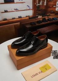 Men Slip Suits Australia - Top luxurious 38-45 Fashion Business Dress Men Shoes 2019 New Classic Leather Men's Suits Shoes Fashion Slip On Dress Shoes Men Oxfords