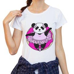 $enCountryForm.capitalKeyWord Australia - New Arrival T Shirt Women Funny Ballet Dance Panda Design Ladies T-Shirt Short Sleeve Animal Tops Girl Tee