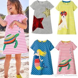 a846cb9b40820 1PC RETAIL Flamingo Embroidered Princess Dress New Designer Kids Summer  Dress Unicorn Animals Appliqued Baby Clothing Tunic Girl Clothes