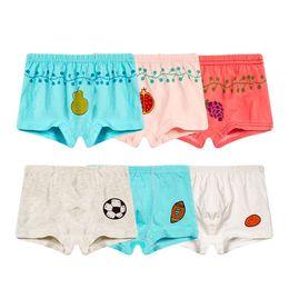 05c2eaadb153 Kids girl boxers underwear online shopping - 100 cotton Children Knit Boxer  Briefs Cartoon Kids Underwear