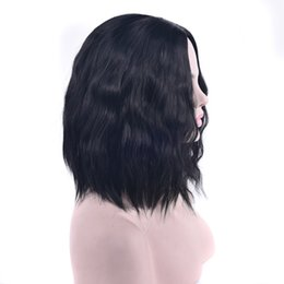 Kinky Straight Hair For UK - Short Kinky Straight Synthetic Hair Wigs Heat Resistant Fiber Hairpiece Headwear Cosplay Wig For Women