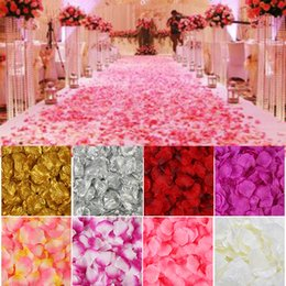 $enCountryForm.capitalKeyWord Australia - 2000 Pcs lot Artificial Rose Petals Colorful Wedding Romantic silk Rose Flower for wedding decoration