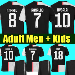 120e867aa Ronaldo black jeRsey online shopping - Thailand RONALDO Juventus champions  league soccer jerseys DYBALA Sports football