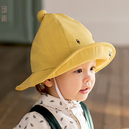 toddler boys sun hats UK - Quenya Cute Soft Cotton Summer Baby Sun Hat Infant Boys Girls Bucket Hat Denim Cotton Toddler Kids Tractor Cap
