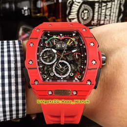 Top-Version RM 50-03 / 01 McLaren F1 Skeleton Dial Japan Miyota Automatikwerk RM50-03 Herrenuhr Red Carbon Fiber Case Kautschukband on Sale