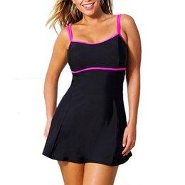 777f3343f62ce Summer One Piece Swimsuit Swim Skirt Swimwear Thong Bathing Suit Brazilian  Women Swimming Wear Black Vintage Monokini Plus Size L-3XL