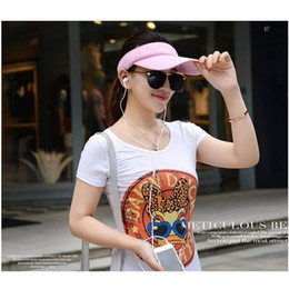 golf tennis sun visors Australia - Hot Attractive Women Visor Sun Plain Hat Sports Cap Colors Golf Tennis Beach Hat Adjustable