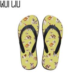 $enCountryForm.capitalKeyWord Australia - Customized Flip Flops Women Cute French Bulldog Print Fashion Summer Slippers Women Flats House Flip Flops for Teen Girls Shoes