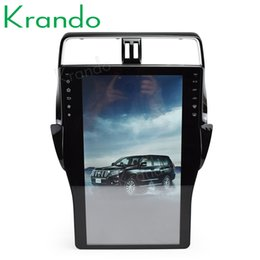 "car gps for toyota prado Australia - Krando Android 6.0 16"" Tesla style car audio radio gps navigation for Toyota Prado 2018+ multimedia system player bluetooth car dvd"