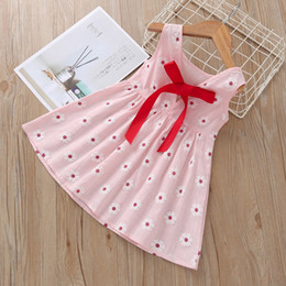 Wholesale beach outfits resale online – Baby Girls Dress Boho Floral Lace Sleeveless Dress Kids Casual Clothes Girls Bohemia Beach Dresses Ropa De Bebé Infant Outfits