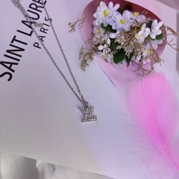 $enCountryForm.capitalKeyWord Australia - Brand Designer Necklaces Luxury Letter Pendant Necklace for Women Gold Plated Rhinestone Necklaces Jewelry Couple Love Gift