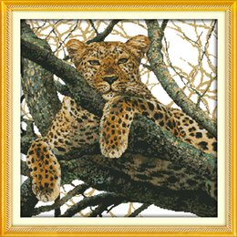 Tiger Tools Australia - The cheetah tiger leopard decor paintings ,Handmade Cross Stitch Embroidery Needlework sets counted print on canvas DMC 14CT  11CT