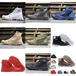 Wholesale New Cheaper Palladium Pallabrouse Men High Army Military Ankle Mens Women Boots Canvas Sneakers Casual Man Anti slip Designer Shoes
