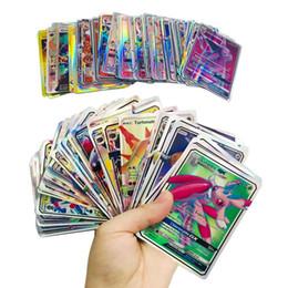 Jogando Trading Cards Games Pikachu EX GX mega brilhar Inglês Cartões Anime Poket Monstros Cartões Não 100pcs repetição / lot venda por atacado