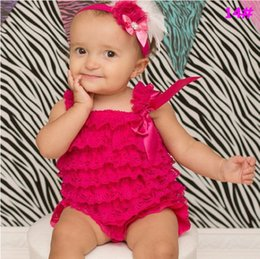 d916daea5 2015 NEW hairband,Cute Petti Baby Girl Lace Romper with Straps and Ribbon  Bow Jumpsuit Infant baby clothing
