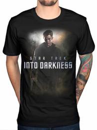 Star Trek Spock Australia - Official Star Trek Kirk Poster T-Shirt Movie Merchandise Kirk Spock Men Women Unisex Fashion tshirt Free Shipping black
