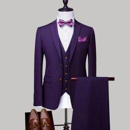 $enCountryForm.capitalKeyWord UK - Suit suit men's three-piece suit groom wedding dress men's suits suits Korean version of the formal autumn and winter