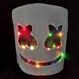 $enCountryForm.capitalKeyWord Australia - DJ mask Festival Helmet Halloween Mask LED light up Neon Party Props Costume lates full head masks