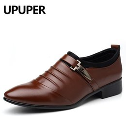 $enCountryForm.capitalKeyWord Australia - Big Size 38-48 Mens Dress Shoes PU Leather Pointed Toe Oxfords Shoes For Men Cheap Flat Slip-on Business Wedding Shoes Men
