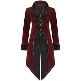 Mens gothic long coat online shopping - Nice Hot Men Vintage Luxury Steampunk Coats Retro Mens Gothic Punk Style Costume For Party Men Outwear Tuxedo Coats