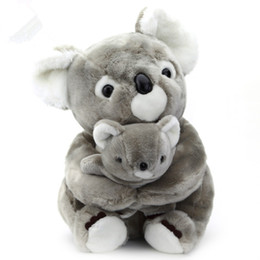 doll toys easter Australia - Dorimytrader simulation animal koala doll plush toy mother and child dolls koala bear parent-child toy children birthday gift 50cm DY50565