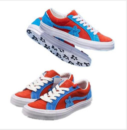 new star shoes UK - New fashion hot Tyler casual shoes The Creator One Star shoes Golf Le Fleur mens designer Sneaker kanye west two tone platform sneakers
