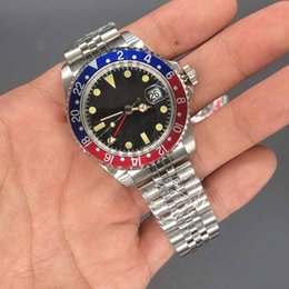 Wholesale Luxury Watch High Quality Watch DP Factory Maker Vintage GMT Work Pepsi Titanium Bezel Movement Mechanical Automatic Mens Watches mm