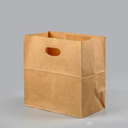 $enCountryForm.capitalKeyWord Australia - Custom die cut kraft paper bag food packaging take away thicken carrier paper bag breakfast snack food packing bag