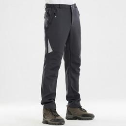 Warm Waterproof Pants Men Australia - Winter Warm Casual Stretch Pants Men Thick Fleece Trousers Male Army Style Softshell Shark Skin Waterproof Cargo Pants