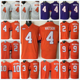 Youth Clemson Tigers 4 DeShaun Watson 3 Artavis Scott 10 Ben BOULWARE 9  Wayne Gallman II 2 Sammy Watkins NCAA College Football Jersey fb4e00afd