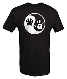 $enCountryForm.capitalKeyWord Australia - Paw Hand Print Yin Yang Dog Animal Rescue Adopted Pet Lover T Shirt Men 2017 Summer Round Neck Men'S T-Shirt Top Tee