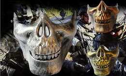 $enCountryForm.capitalKeyWord NZ - CS Mask Carnival Gift Scary Skull Skeleton Paintball Lower Half Face facemask warriors Protective Mask For Halloween Party Masks