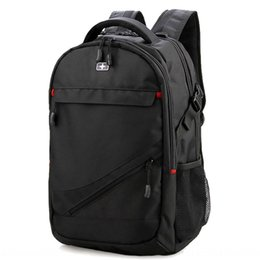 swiss backpacks laptop NZ - Swiss Laptop Computer travel Army knife backpack men's 17-inch laptop bag Oxford cloth travel bag backpack