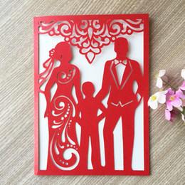 $enCountryForm.capitalKeyWord Australia - 25PCS Family Lovely Pattern Wedding Invitations House Moving Dinner Invitation card Birthday Party