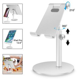 $enCountryForm.capitalKeyWord Australia - Aluminium Mobile Phone Stand Rotate Holder for iPhone iPad Air Smartphone Metal Desk Desktop Phone Rotation Adjustable Stable Mount Holder