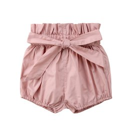 solid infant bloomers UK - Infant Baby Girl Boy Cotton Shorts PP Pants Nappy Diaper Covers Printed Bloomers
