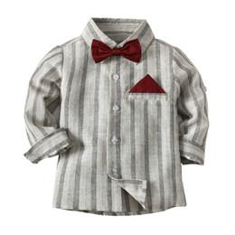 $enCountryForm.capitalKeyWord Australia - 2019 New Spring Autumn Children Boys Shirts Fashion Casual Bow Tie Long Sleeve Shirt For Boys Tops Kids Boys Clothes