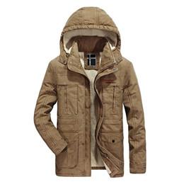 $enCountryForm.capitalKeyWord Australia - Winter Parka Jacket Men Casual Hooded Collar Removable Thick Warm Wool Liner Winter Mens Outerwear Windbreaker Mid-long Coat Men