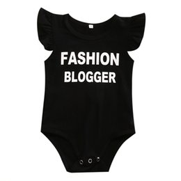 $enCountryForm.capitalKeyWord Australia - New Casual Toddler Infant Baby Boys Girls Letter Off Shoulder Rompers Jumpsuit Outfits Sunsuit